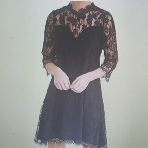 Umgee Lace Black Dress New